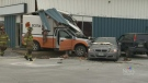 Fuel truck crashes into building in Dartmouth