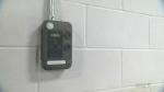 A carbon monoxide monitor at Laurier Macdonald vocational school