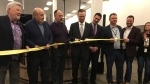 A ribbon-cutting ceremony is held at the Sydney Call Centre -- formerly known as Servicom -- in Sydney, N.S. on Jan. 18, 2019.