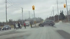 pedestrians hit in Markham