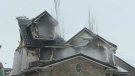 Firefighter hurt as Cambridge home destroyed by fi