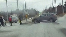 Pedestrians hit by car in Markham