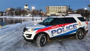 A Kingston police vehicle