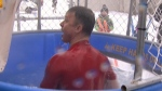 CTVML's Rob Williams in dunk tank.