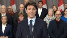 PM Trudeau speaks in Sherbrooke, Que.
