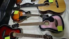 RCMP recovered some of the instruments stolen from a central Alberta teenager. (Supplied)