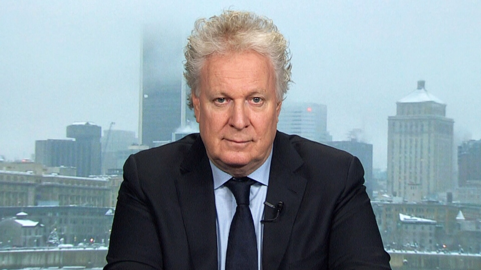 Former Quebec premier Jean Charest appears on CTV's Question Period in an interview airing Sunday, Jan. 19, 2019.