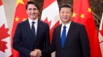 Prime Minister Justin Trudeau meets Chinese President Xi Jinping at the Diaoyutai State Guesthouse in Beijing, China on Tuesday, Dec. 5, 2017. (THE CANADIAN PRESS / Sean Kilpatrick)