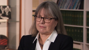 Nobel prize winner Donna Strickland speaks to CTV News in Ottawa.