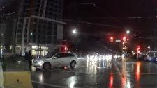 Video shows pedestrian peril