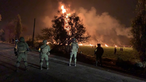 Fireball at illegal Mexico pipeline tap kills 66; 85 missing