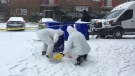 London police investigate a shooting and stabbing at 495 Cleveland Ave. on Jan. 19, 2018. (Brent Lale/CTV)