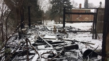 The remnants of a shed fire on Morrison Road. (Jan. 19, 2019)