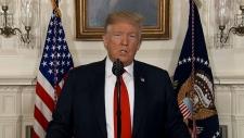 U.S. President Trump makes an announcement