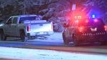 A pedestrian was taken to hospital as a precaution after they were hit by a vehicle early Saturday morning.