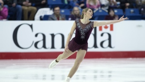 Alaine Chartrand skates the senior women free competition at the 2019 National Skating Championships at Harbour Station in Saint John, N.B. on Saturday, Jan. 19, 2019. Chartrand won the women's title. THE CANADIAN PRESS/Andrew Vaughan