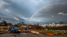 A rainbow over damage from a tornado touchdown in Wetumpka, Ala., on Saturday, Jan. 19, 2019. (Mickey Welsh/The Montgomery Advertiser via AP)
