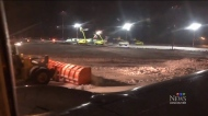 snowy edmonton airport