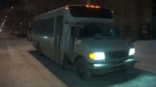 The bus brings homeless people out of the cold and into shelters around the city.
