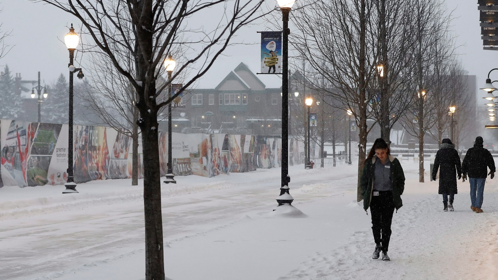 Sunny with a cold wind chill of -18C today