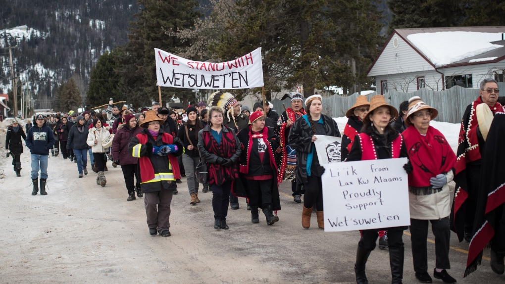 Wet'suwet'en solidarity protest