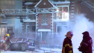 Around 1:20 a.m. authorities were alerted to an active fire in a basement apartment of a five-unit building on Rosemont Blvd. (CTV Montreal)