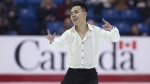 Nam Nguyen skates to a national title after winning the senior men free competition at the 2019 National Skating Championships at Harbour Station in Saint John, N.B., on Saturday, Jan. 19, 2019. (THE CANADIAN PRESS / Andrew Vaughan)