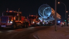 A 682-tonne de-ethanizer stripper will be making its way from Edmonton to Fort Saskatchewan over the course of four days, Jan. 19 to 22.