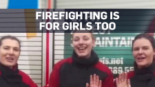 Firefighters encourage girl to pursue her dream