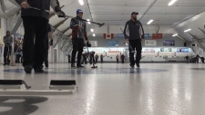 Peter Minogue rocks and hearts curling bonspiel