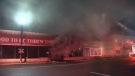The blaze did severe damage to the Too Good to be Threw thrift shop. (CTV)