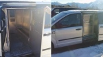 The interior and exterior of a prison transport van is seen in this handout combo image from a report of the Office of the Correctional Investigator. A federal inmate who says he was shackled in a cramped transport van for almost eight hours, despite a heart condition and other ailments, is suing the government for compensation. THE CANADIAN PRESS/HO, Government of Canada