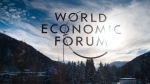 The sign of the World Economic Forum, WEF, is displayed at an entrance door at the congress center at the eve of the meeting in Davos, Sunday, Jan. 20, 2019. (AP Photo/Markus Schreiber)