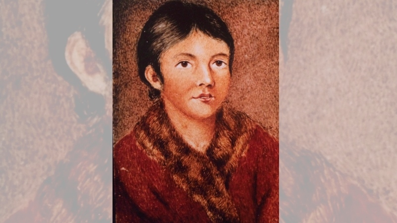 Mary March, also known by her Indigenous name as Demasduit, one of the last Beothuk, is shown in this painting by Lady Hamilton. The remains of two people from a now-extinct Newfoundland First Nation will be returned to Canada after being held in Scotland for almost two centuries. (THE CANADIAN PRESS/HO-Library and Archives Canada)