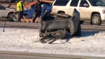 On Feb. 22, 2016 Major and six passengers were in a 2012 Dodge pick-up that T-boned a semi-trailer at the intersection of grid road 3083 and Highway 16, west of Langham.