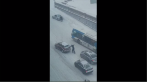 Bus driver helps during storm Jan 20