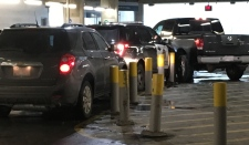 Police were able to catch up with the stolen SUV in a parkade at SAIT and arrested one person.