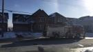 Fire crews respond to a house fire on Edgehill Drive in Barrie, Ont., on Monday, Jan. 21, 2019 (CTV News/Steve Mansbridge)