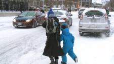 Icy roads, school buses delays