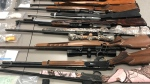 RCMP seized 12 firearms from a Calling Lake home on Jan. 19. (Supplied)
