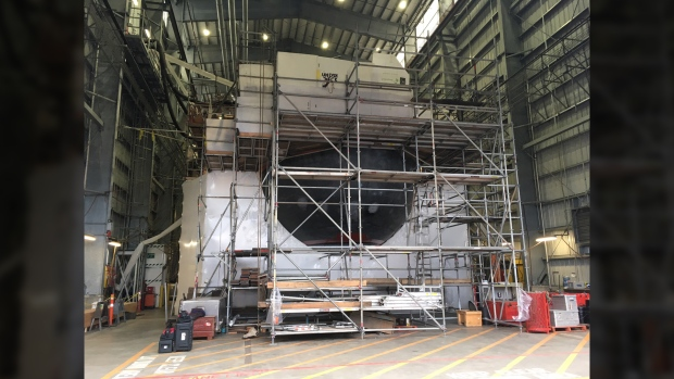 HMCS Corner Brook sub retrofit
