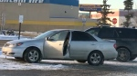 A thief abandoned a stolen sedan with a baby inside in a parking lot near Sunridge Mall
