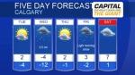 Calgary forecast January 21, 2019