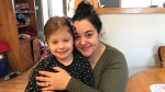 Ashley Holland and her four-year-old daughter Macy were in a car accident on Sunday near Hantsport, N.S. Their car slid off the road and went in to an icy pond. With the help of a passerby and fireighters who happened to be nearby, they were able to get out alive.