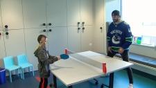 Canucks visit BC Children's Hospital