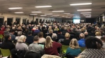 Nearly 500 people braved the frigid cold to voice their concerns over the future of the Kanata Lakes golf course.