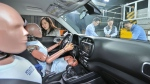 Hyundai is testing an airbag system for effective protection from multiple collisions. Hyundai Motor Group / AFP