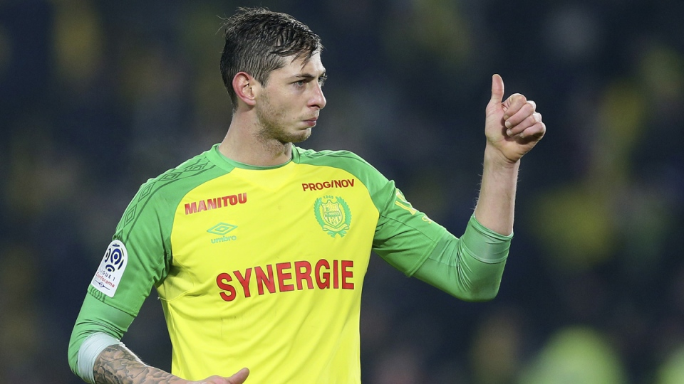 Argentine soccer player, Emiliano Sala in Nantes, France, on Jan. 14, 2018. (David Vincent / AP)