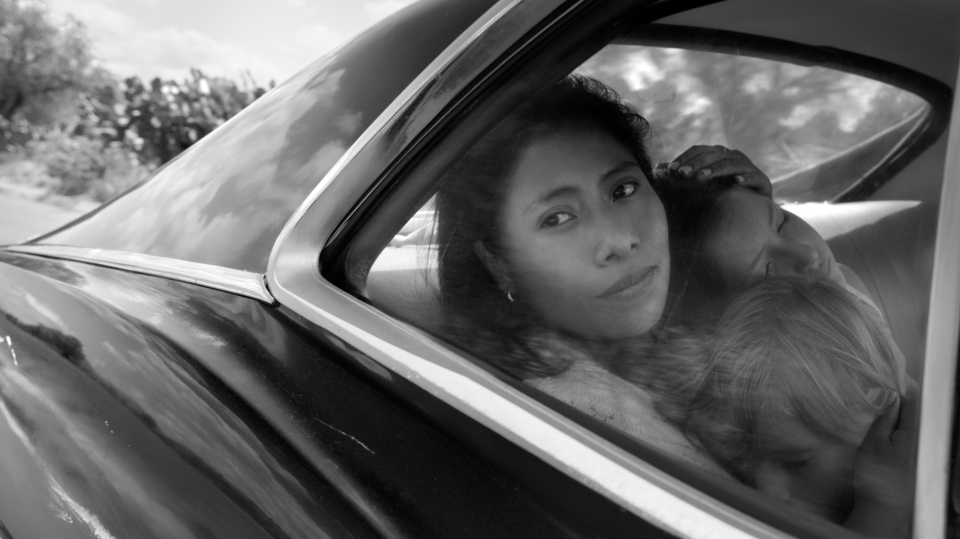 """This image released by Netflix shows Yalitza Aparicio in a scene from the film """"Roma,"""" by filmmaker Alfonso Cuaron. (Alfonso Cuarón/Netflix via AP)"""