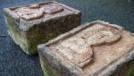 A Dutch art detective has returned two priceless stone reliefs stolen from an ancient Spanish church after tracing them to an English nobleman's garden where they were displayed as ornaments. (NIKLAS HALLE'N / AFP)